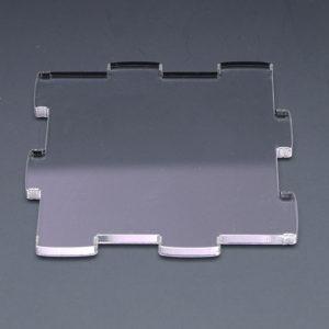 各凹凸部分に特殊なレーザー加工をしており、弾力によるジョイントが可能となります。